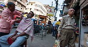 Barber in Kolkata streets (India).