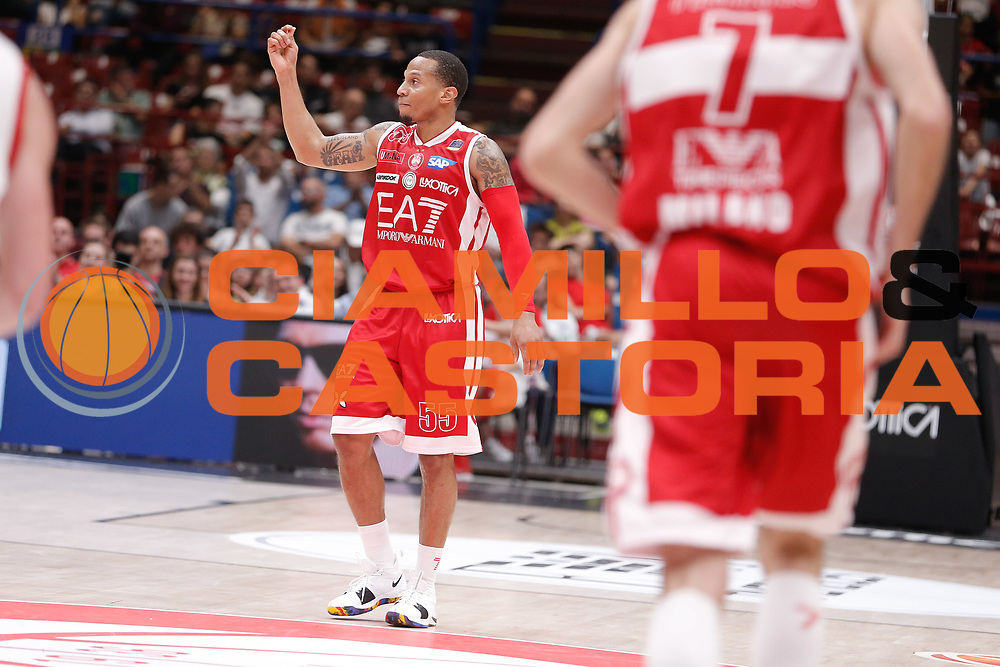 Jerrells Curtis<br /> EA7 Olimpia Milano - The Flexx Pistoia<br /> Legabasket Serie A 2017/18<br /> Milano, 06/05/2018<br /> Foto MarcoBrondi / Ciamillo-Castoria
