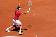 Roland Garros 2011. Paris, France. May 23rd 2011..Swiss player Roger FEDERER against Feliciano LOPEZ