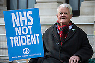 13 Apr.2015 - Protest against Trident at the Ministry of Defence in London.