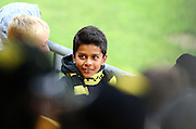 A young fan watches on during the Round 22 A-League football match - Wellington Phoenix V Adelaide United at Westpac Stadium, Wellington. Saturday 5th March 2016. Copyright Photo.: Grant Down / www.photosport.nz