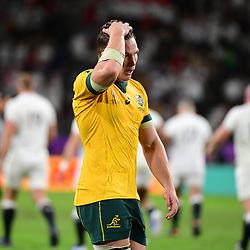 Disappointment for Michael HOOPER of Australia during the Rugby World Cup 2019 Quarter Final match between England and Australia on October 19, 2019 in Oita, Japan. (Photo by Dave Winter/Icon Sport) - Michael HOOPER - Oita Stadium - Oita (Japon)