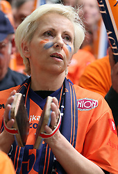 Assistant of General Manager of ACH, Ivanka Mihelcic at 4th and final match of Slovenian Voleyball  Championship  between OK Salonit Anhovo (Kanal) and ACH Volley (from Bled), on April 23, 2008, in Kanal, Slovenia. The match was won by ACH Volley (3:1) and it became Slovenian Championship Winner. (Photo by Vid Ponikvar / Sportal Images)/ Sportida)