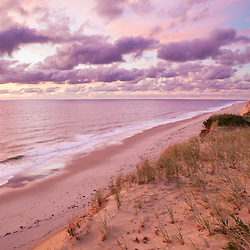 Sunrise view from the Marconi Station Site in the Cape Cod National Seashore in Wellfleet, Massachusetts.