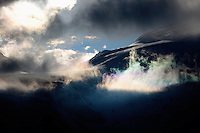 Grosglockner Mountain in clouds, Hohe Tauern National Park, Carinthia, Austria