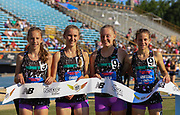 Kinetic TC-New York won the Girls 4x Mile Relay Championship in a time of 20:31.67 during the New Balance Outdoor Nationals, Sunday, June 16, 2019, in Greensboro, NC. (Brian Villanueva/Image of Sport)