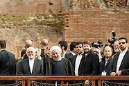 Hassan Rouhani visits the Colosseum