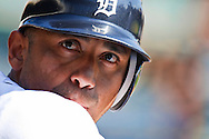 September 17, 2009: #9 Carlos Guillen of the  Detroit Tigers during the MLB game between the Kansas City Royals and Detroit Tigers at Comerica Park, Detroit, Michigan. Royals won 9-2