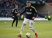 Hibernian FC Forward Anthony Stokes warming up during the Scottish League Cup Final match between Hibernian and Ross County at Hampden Park, Glasgow, United Kingdom on 13 March 2016. Photo by Craig McAllister.