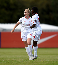 Natasha Dowie of Liverpool Ladies celebrates her fourth goal against Bristol Academy Women - Mandatory by-line: Paul Knight/JMP - Mobile: 07966 386802 - 13/09/2015 -  FOOTBALL - Stoke Gifford Stadium - Bristol, England -  Bristol Academy Women v Liverpool Ladies FC - FA WSL Continental Tyres Cup