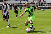 Forest Green Rovers George Williams(11) crosses the ball during the Pre-Season Friendly match between Bath City and Forest Green Rovers at Twerton Park, Bath, United Kingdom on 27 July 2019.