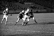 4/11/1967<br /> 11/4/1967<br /> 4 November 1967<br /> <br /> The Mayo Team played the Australian team at Croke Park<br /> <br /> S. O'Connor Kicks past Australian Barry Davis