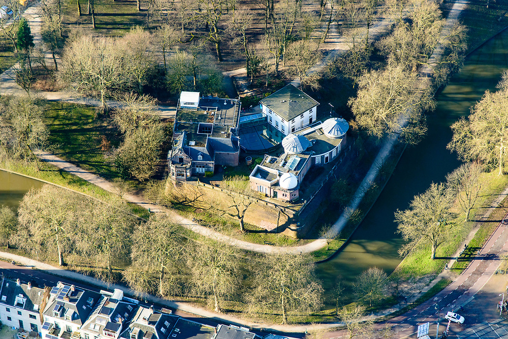 Nederland, Utrecht, Utrecht, 07-02-2018; Maliesingel met bolwerk Sonnenborgh en de gelijknamige Sterrenwacht publiekssterrenwacht.<br /> Maliesingel with stronghold Sonnenborgh and the eponymous  public observatory<br /> <br /> luchtfoto (toeslag op standard tarieven);<br /> aerial photo (additional fee required);<br /> copyright foto/photo Siebe Swart