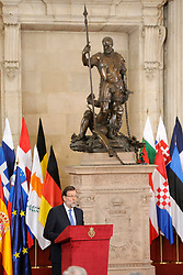 24.06.2015, Palacio Real, Madrid, ESP, Festakt zu 30 Jahre EU Mitgliedschaft Spaniens, im Bild Spanish Prime Minister Mariano Rajoy // attends the 30th Anniversary of Spain being part of European Communities at the Palacio Real in Madrid, Spain on 2015/06/24. EXPA Pictures © 2015, PhotoCredit: EXPA/ Alterphotos/ POOL/ Ricardo Garcia<br /> <br /> *****ATTENTION - OUT of ESP, SUI*****