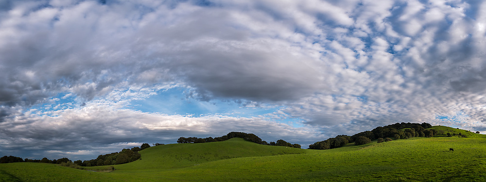 Clouds over the Briones Crest, Briones Regional Park, Contra Costa County, California
