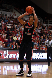 Feb 16, 2012; Stanford CA, USA; Oregon State Beavers guard Jared Cunningham (1) before shooting a free throw against the Stanford Cardinal during the second half at Maples Pavilion. Stanford defeated Oregon State 87-82. Mandatory Credit: Jason O. Watson-US PRESSWIRE