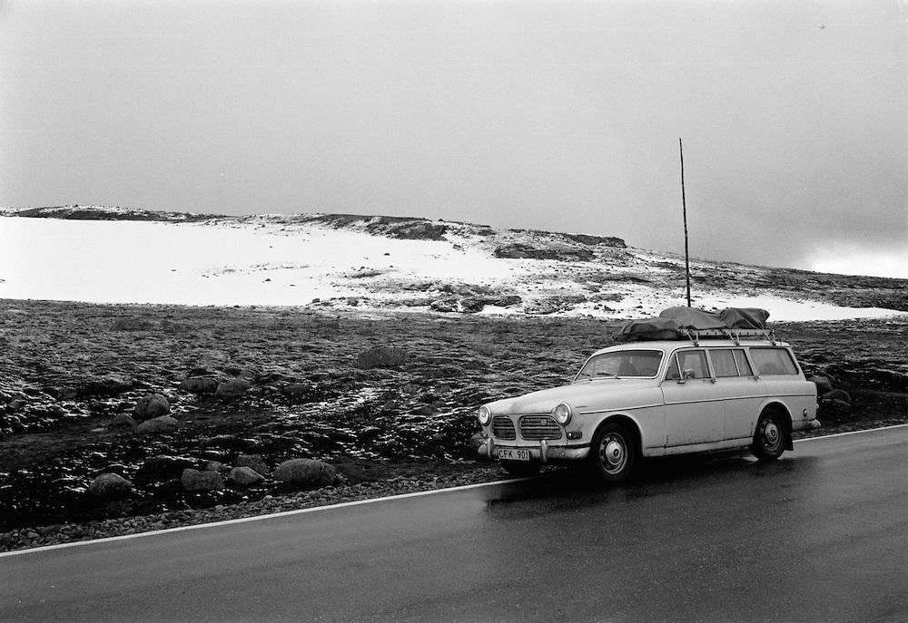 Över Hardangervidda i Norge