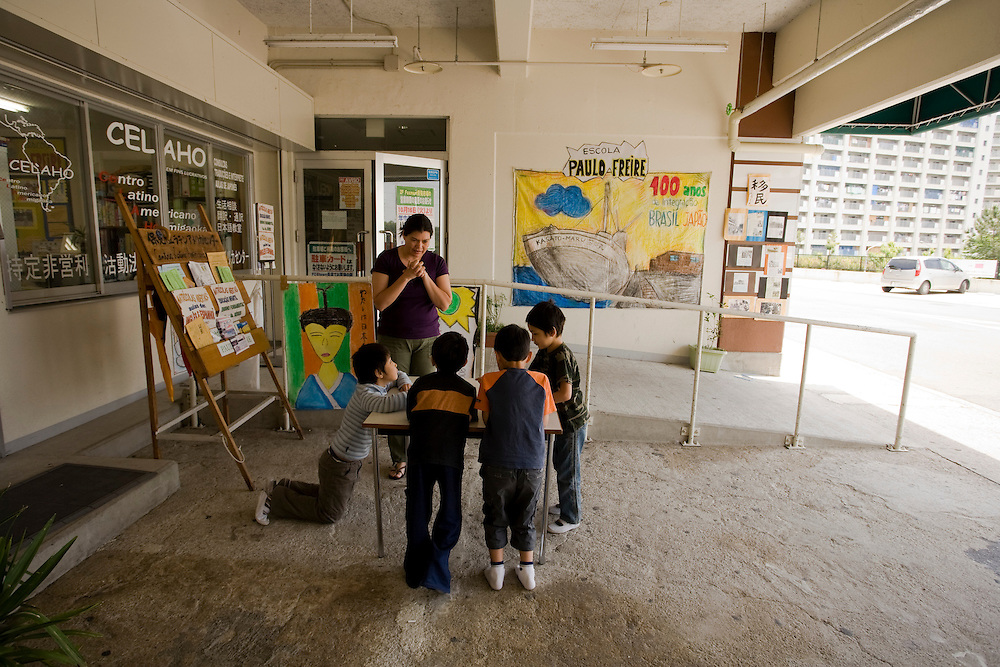 Residents of the  Homi Danchi area of Toyota City,  Nearly all the  residents are Foreigners  with about 1/2 of them from Brazil. . Most  work at Toyota Factories or companies  of  the Toyota Group. Portuguese language class for children