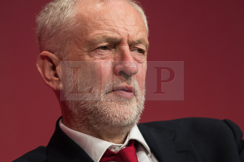 © Licensed to London News Pictures . 24/09/2017. Brighton, UK. JEREMY CORBYN at the conference . The first day of the Labour Party Conference in and around The Brighton Centre . Photo credit: Joel Goodman/LNP