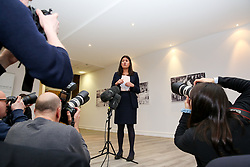 © Licensed to London News Pictures. 13/01/2020. London, UK. Labour Party leadership candidate LISA NANDY speaks to party activists in East London at the launch of her campaign for Leader of the Labour Party. Photo credit: Dinendra Haria/LNP
