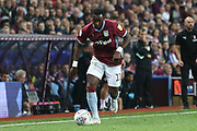 Yannick Bolasie of Aston Villa (11) attacks down the wing during the EFL Sky Bet Championship match between Aston Villa and Rotherham United at Villa Park, Birmingham, England on 18 September 2018.