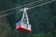 Mount Roberts Tramway, south of downtown Juneau, Alaska. In operation since 1996, the tram makes a six-minute ascent of 3,819-foot Mount Roberts from the cruise ship docks to 1800 feet.