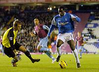 Photo: Glyn Thomas.<br />Birmingham City v West Ham United. The Barclays Premiership. 05/12/2005.<br /> Birmingham's Emile Heskey (R) gives his side a 1-0 lead.