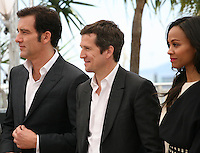 Clive Owen, Guillaume Canet, Zoé Saldana, .at the Blood Ties film photocall at the Cannes Film Festival Monday 20th May 2013