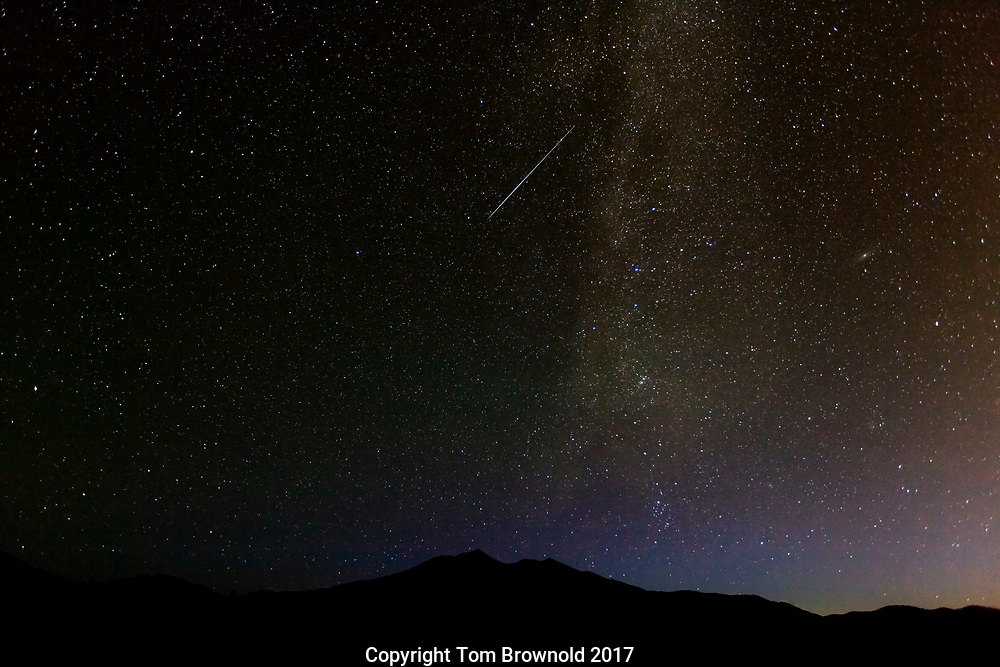 The San Francisco Peaks with the North Star and the milky way