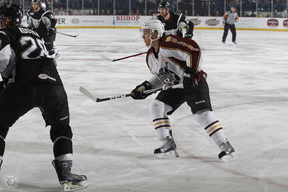 Chicago Wolves 2011-12 Season.Photograph by Ross Dettman..#18 Jordan Schroeder
