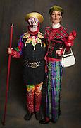 Bruce Henken, aka Victory, and Marcela Lineiro Singleton at the Radical Faeries' St. Brigid Ball; 2015 Carnival in New Orleans