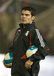WARRINGTON, ENGLAND - Tuesday, February 26, 2008: Liverpool's fitness coach Antonio Gomez during the FA Premiership Reserves League (Northern Division) match against Manchester United at the Halliwell Jones Stadium. (Photo by David Rawcliffe/Propaganda)