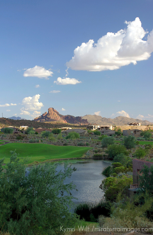 USA, Arizona, Fountain Hills. The Golf Course and scenery at Eagle Mountain.