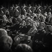 Hele den kongelige familie nød i den grad den smukke koncert og optræden.