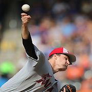 NEW YORK, NEW YORK - July 05: Pitcher Tom Koehler #34 of the Miami Marlins pitching during the Miami Marlins Vs New York Mets regular season MLB game at Citi Field on July 04, 2016 in New York City. (Photo by Tim Clayton/Corbis via Getty Images)