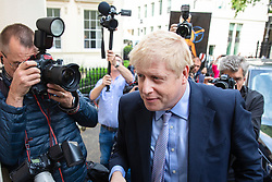© Licensed to London News Pictures. 12/06/2019. London, UK. Boris Johnson MP, who is running to be Leader of the Conservative Party and the next Prime Minister, arrives at the official launch event for his leadership campaign. Photo credit: Rob Pinney/LNP