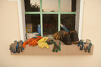 Domaine du Vissoux, Beaujolais.workers' gloves..September 14, 2007..Photo by Owen Franken for the NY Times.