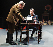 Collaborators<br /> by John Hodge<br /> at The Cottesloe Theatre, Southbank, London, Great Britain <br /> press photocall<br /> 31st October 2011 <br /> <br /> Simon Russell Beale (as Joseph Stalin)<br /> Alex Jennings (as Mikhail Bulgakov)<br /> <br /> directed by Nicholas Hytner)<br /> <br /> Photograph by Elliott Franks