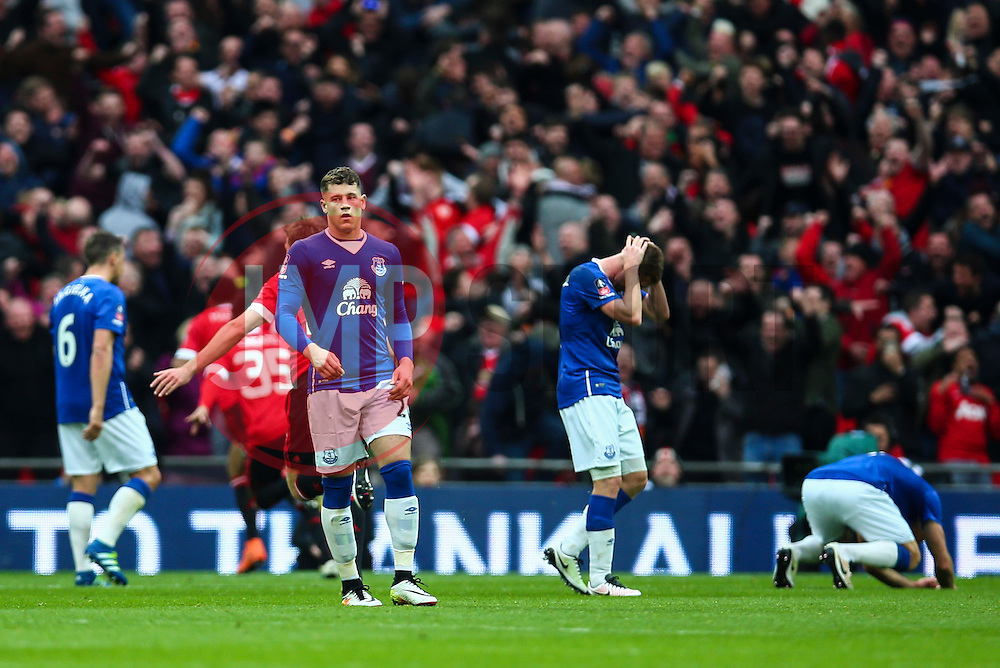 Goal, Anthony Martial of Manchester United scores, Everton 1-2 Manchester United - Mandatory byline: Jason Brown/JMP - 07966386802 - 23/04/2016 - FOOTBALL - Wembley Stadium - London, England - Everton v Manchester United - The Emirates FA Cup