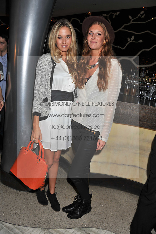 Left to right, FLORENCE BRUDENELL-BRUCE and LARA PILKINGTON at a party to launch PRPS's new luxury denim line called Noir whilst raising money for UNICEF Japan, held at Nobu Berkeley Street, London on 5th September 2011.