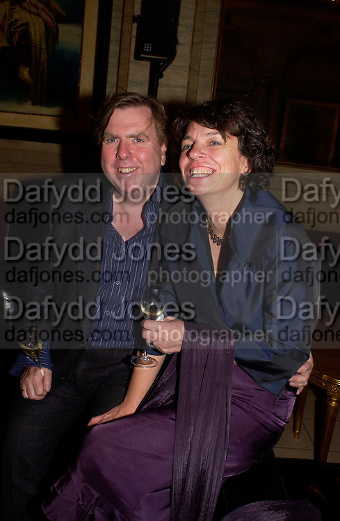 Timothy Spall and his wife, ( Shane?) Krug Christmas party, hosted by Sir Trevor Nunn and Imogen Stubbs, the Criterion, 10 December 2003. © Copyright Photograph by Dafydd Jones 66 Stockwell Park Rd. London SW9 0DA Tel 020 7733 0108 www.dafjones.com