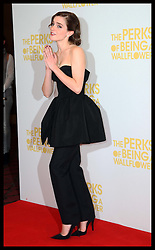 Emma Watson at the UK gala screening of The Perks of Being a Wallflower in London, Wednesday, 26th September 2012.  Photo by: Stephen Lock / i-Images