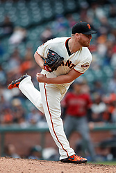 SAN FRANCISCO, CA - MAY 26: Will Smith #13 of the San Francisco Giants pitches against the Arizona Diamondbacks during the ninth inning at Oracle Park on May 26, 2019 in San Francisco, California. The Arizona Diamondbacks defeated the San Francisco Giants 6-2. (Photo by Jason O. Watson/Getty Images) *** Local Caption *** Will Smith