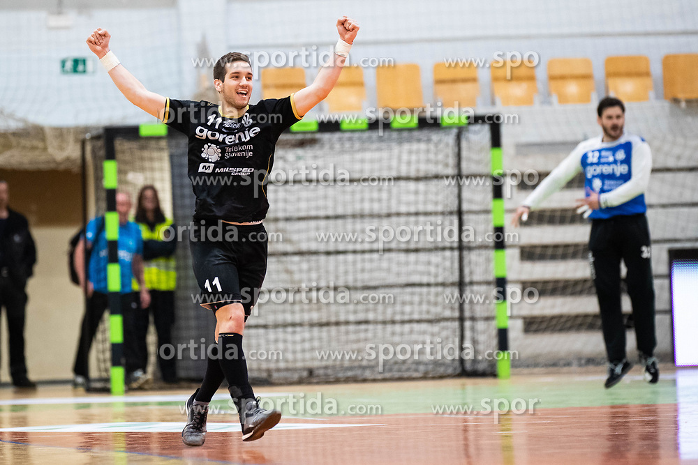 Vlado Matanovic of RK Gorenje Velenje during handball match between RK Gorenje Velenje and MRK Krka in Final of Slovenian Men Handball Cup 2018/19, on Maj 12, 2019 in Novo Mesto, Slovenia. Photo by Grega Valancic / Sportida
