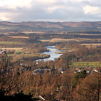 The River Tay viewed from Kinnoull Hill looking north towards Dunkeld.<br />