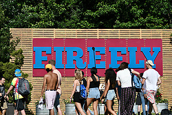 Festival-goers on the first day of the 2018 edition of the FireFly Music Festival at the Woodlands, in Dover, DE, USA, on June 14, 2018.
