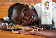 """Seeds of Hope's """"Invest In A Dreamer"""" campaign featuring scholar Yvonne Muhongerwa. Photography by Yoshi James. Design and layout by Leah Haines."""
