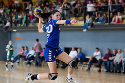 Alja Koren of Krim during the last game of 1st A Slovenian Women Handball League season 2011/12 between ZRK Krka and RK Krim Mercator, on May 8, 2012 in Stopice at Novo mesto, Slovenia. RK Krim Mercator became Slovenian National Champion, GEN-I Zagorje placed second and ZRK Krka placed third. (Photo by Vid Ponikvar / Sportida.com)
