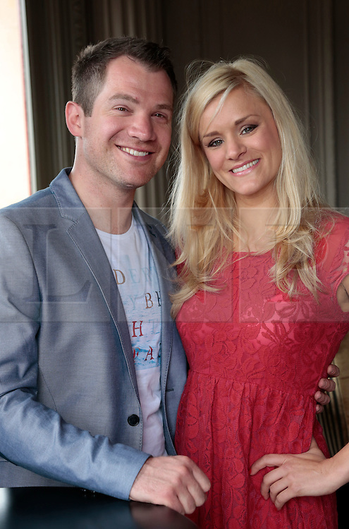 """© Licensed to London News Pictures. 16/07/2012. London, England. L-R: Daniel Boys (Any Dream Will Do) and Rachael Wooding (Jersey Boys, Hairspray). On Thursday, 19th July, Gareth Gates, Jonathan Ansell, Daniel Boys, Emma Williams and Rachael Wooding perform in """"Momentous Musicals"""", a brand new concert celebration showcasing ballads and songs from musicals for one night only at the New Wimbledon Theatre, London. The show is directed by John Garfield-Roberts with musical direction by John Dyer. Photo credit: Bettina Strenske/LNP"""