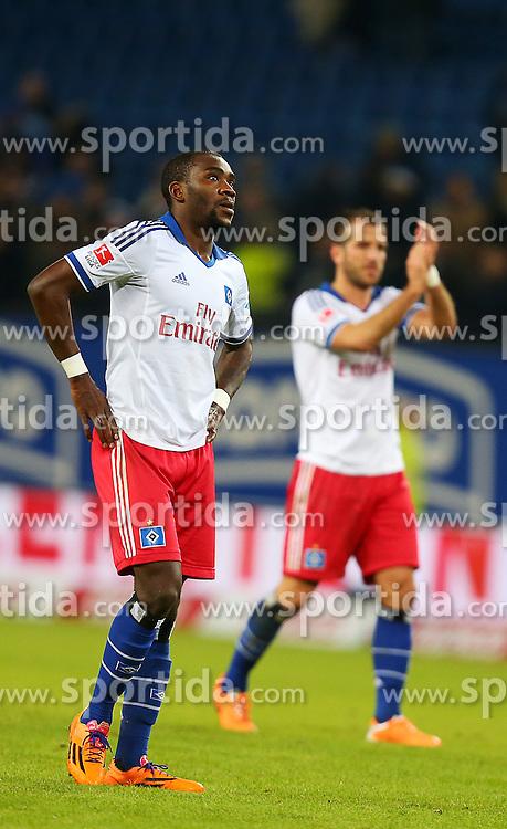 Football: Germany, 1. Bundesliga<br /> Jacques Zoua (Hamburger SV, HSV), Rafael van der Vaart (Hamburger SV, HSV)
